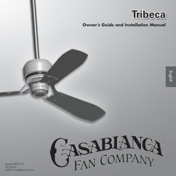 Owner's Manual - Casablanca Fan
