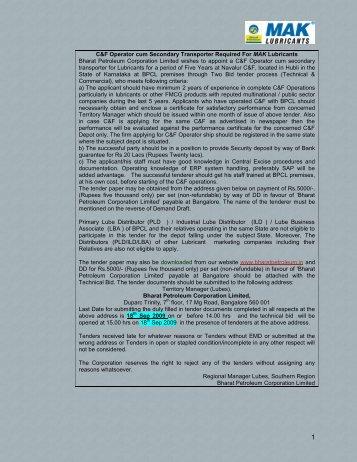 T000001932_FileName_Navalur Cf Tender ... - Bharat Petroleum