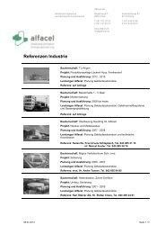 Referenzen Industrie - Alfacel AG