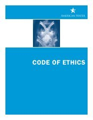 CODE OF ETHICS - American Water