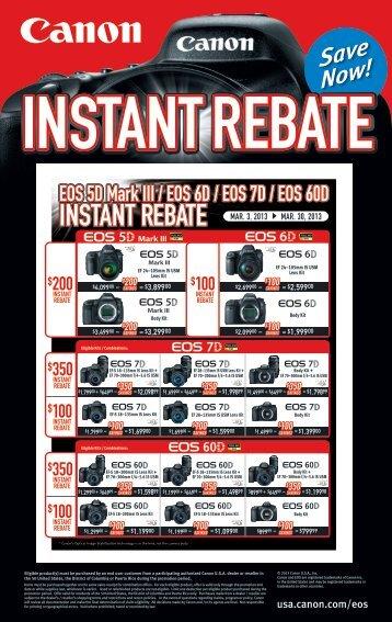 instant rebate instant rebate instant rebate - Bozeman Camera ...