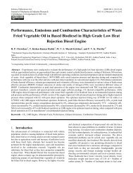Performance, Emissions and Combustion Characteristics of Waste ...