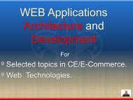 WEB Applications Architecture and Development