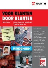 VOOR KLanten dOOR KLanten - Würth Nederland