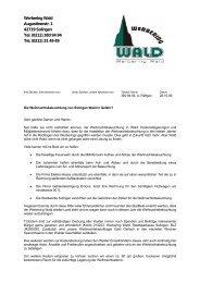 Professioneller Brief - Walder Werbering