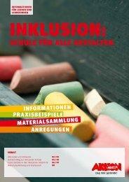 """Praxisheft """"Inklusion: Schule für alle gestalten"""" - Aktion Mensch"""