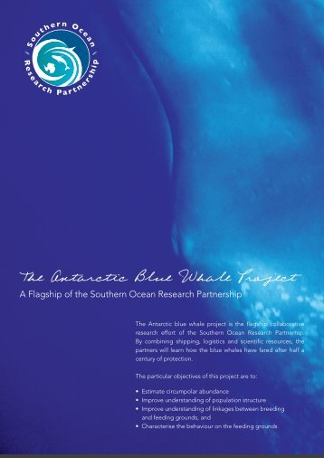 The Antarctic Blue Whale Project - Australian Marine Mammal Centre