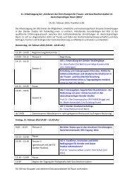 """11. Arbeitstagung der """"Konferenz der Einrichtungen für ... - gFFZ"""