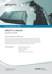 alform® x-treme - voestalpine