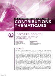 Le Désir et le doute: moteurs de la créativité et ... - unesdoc - Unesco