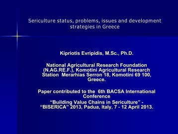 Country report Greece - BACSA