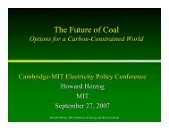 The Future of Coal - Electricity Policy Research Group