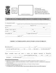 domanda di autorizzazione per occupazione suolo pubblico