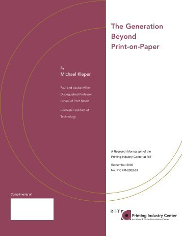 The Generation Beyond Print-on-Paper - GOC