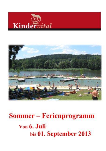 Sommer – Ferienprogramm - Gemeinde Kirchberg an der Raab