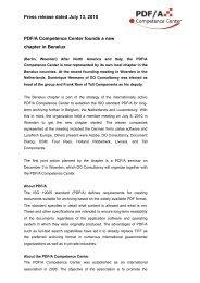 PDF/A Competence Center Founds Benelux ... - PDF Association