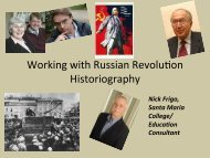Working with Russian Revolufon Historiography - HTAV