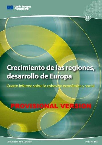 Cuarto informe sobre la cohesión económica y social - European ...