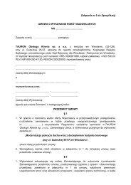 Załącznik nr 5 do Specyfikacji UMOWA O WYKONANIE ... - Tauron