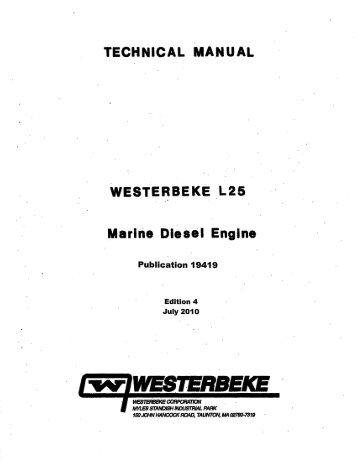 L25 Technical-Parts Manual 19419 Edition 4.pdf - Westerbeke