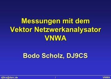 Messungen mit dem Vektor Netzwerkanalysator VNWA - SDR-Kits