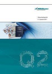 Zwischenbericht 2. Quartal 2011 - Mühlbauer AG