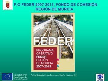 po feder 2007-2013. fondo de cohesión región de murcia