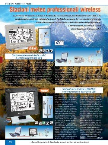 Stazioni meteo professionali wireless - Futura Elettronica