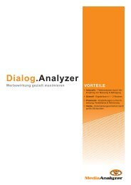 Dialog.Analyzer - Beileger und Mailings optimieren - MediaAnalyzer