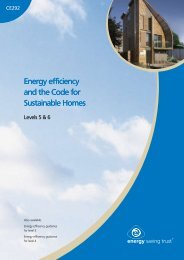 Energy efficiency and the Code for Sustainable Homes Energy ...