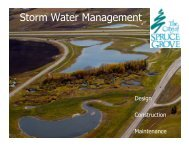 Storm Water Management Plan - The City of Spruce Grove