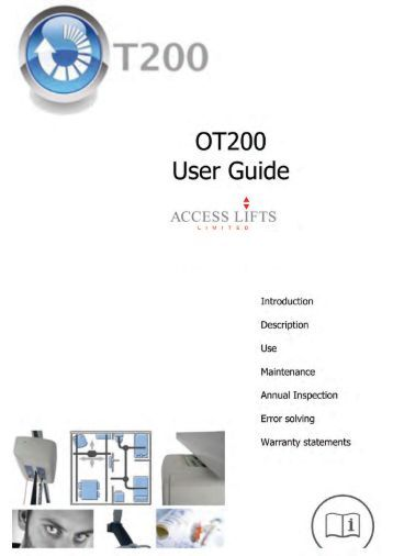 Download Hoist user manual - Access Lifts Limited