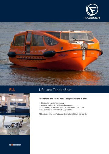 PLL Life and Tender Boat - Fr. Fassmer GmbH & Co. KG