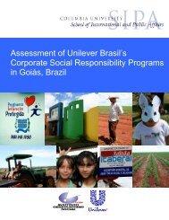 Assessment of Unilever Brasil's Corporate Social Responsibility ...