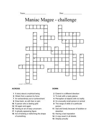 Maniac Magee Essay Topics & Writing Assignments