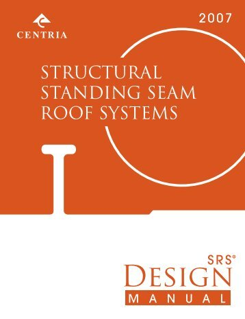 STRUCTURAL STANDING SEAM ROOF SYSTEMS - 5tco