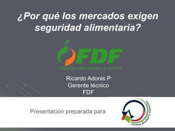 Seguridad Alimentaria - Ricardo Adonis - Comite de Arandanos