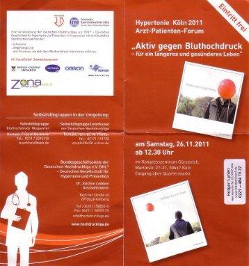 Page 1 d gesunde-res Leben ln 2011 Forum ie Kö ienten- angeres ...