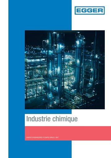 Chimie: Applications pour pompes Egger dans l'Industrie chimique