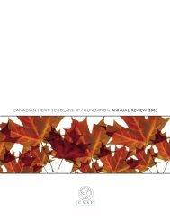 CANADIAN MERIT SCHOLARSHIP FOUNDATION ... - Loran Award