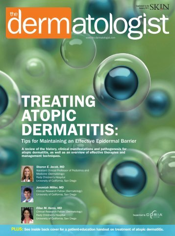 TREATING ATOPIC DERMATITIS: - The Dermatologist