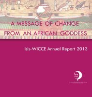 Isis WICCE Annual Report 2013