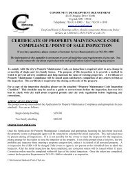 certificate of property maintenance code compliance ... - City of Crystal