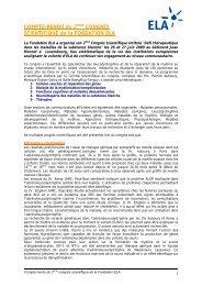 Compte-rendu du 2ème Congrès Scientifique de la Fondation ELA