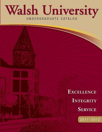 CATALOG 06 - Walsh University