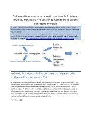 Guide pratique pour la participation de la société civile au ... - CSM