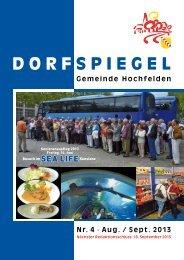 4 August / September - Gemeinde Hochfelden