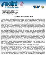 cronaca pdf 3^ prova a Pomposa - Moto Club Bergamo