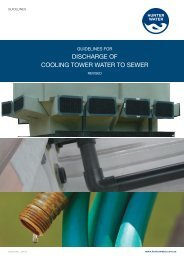 Discharge of Cooling Tower Water to Sewer Guidelines - Hunter Water