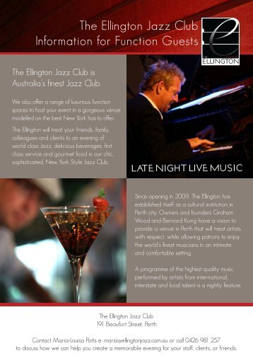 Functions Pack - The Ellington Jazz Club